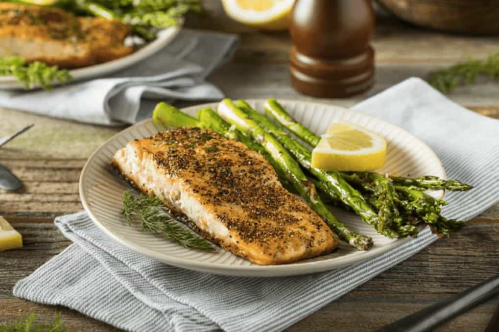 HCG diet recipe baked fish with asparagus